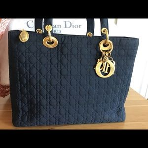 Dior Bags - CHRISTIAN DIOR Cannage Quilted Medium Lady Dior